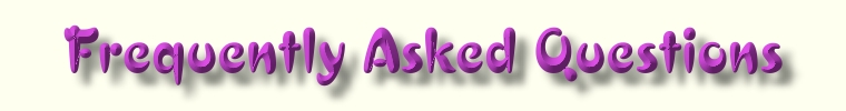 Frequently Asked Questions  Web Page Title Graphic