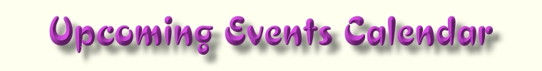 Upcoming Events  Web Page Title Graphic